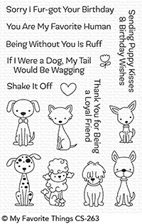 My Favorite Things PUPPY KISSES Clear Stamps CS263