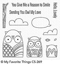 My Favorite Things OWL MY LOVE Clear Stamps CS269