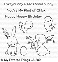 My Favorite Things HOPPY FRIENDS Clear Stamps CS280