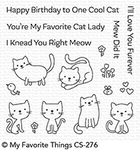 My Favorite Things LOVE YOU FUREVER Clear Stamps CS276