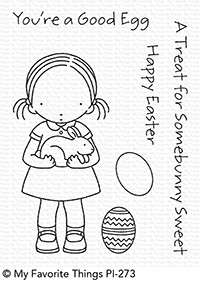 Pure Innocence SOMEBUNNY SWEET Clear Stamps MFT PI273