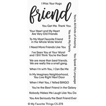 My Favorite Things ANYTHING BUT BASIC FRIENDSHIP Clear Stamps CS278