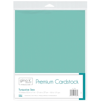 Therm O Web Gina K Designs TURQUOISE SEA Premium 100 LB Cardstock 18086