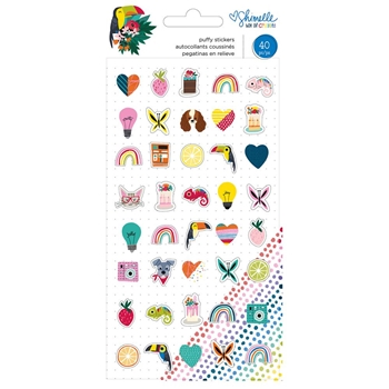 American Crafts Shimelle PUFFY STICKERS Box of Crayons 346616