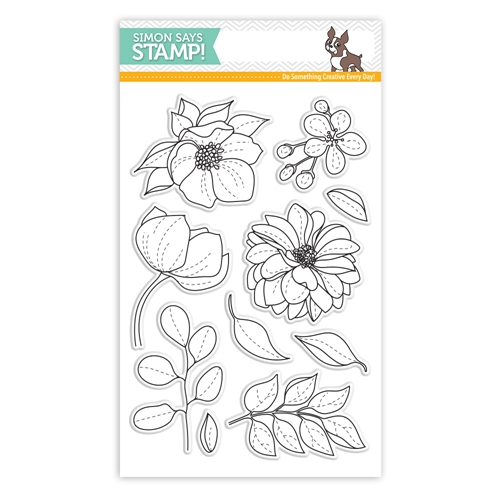 Simon Says Clear Stamps EVEN MORE SPRING FLOWERS sss101814 Best Days Preview Image