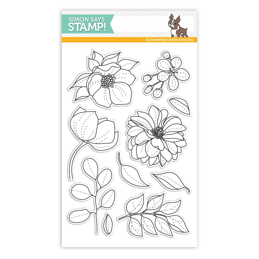 Simon Says Clear Stamps EVEN MORE SPRING FLOWERS sss101814 Best Days zoom image