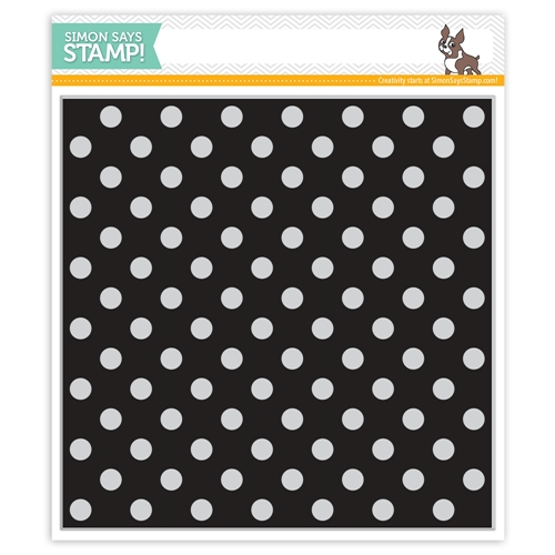 Simon Says Cling Rubber Stamp REVERSE POLKA Background sss101813 Best Days Preview Image