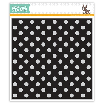Simon Says Cling Rubber Stamp REVERSE POLKA Background sss101813 Best Days