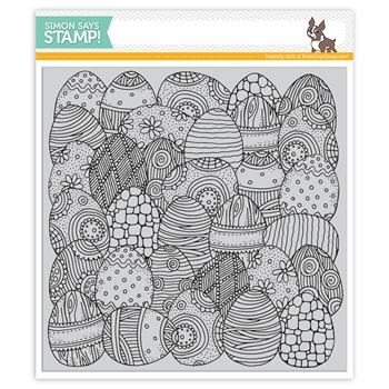 Simon Says Cling Rubber Stamp DOODLE EGG Background sss101838 Best Days