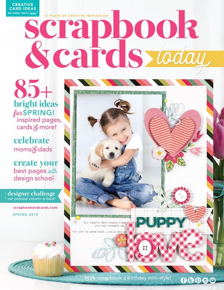 Scrapbook & Cards Today Magazine SPRING 2018 Issue spsc18 zoom image