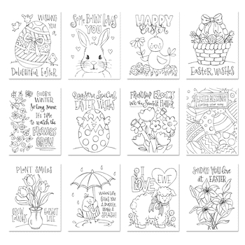 Simon Says Stamp Suzy's EASTER WISHES Watercolor Prints swew18 Best Days