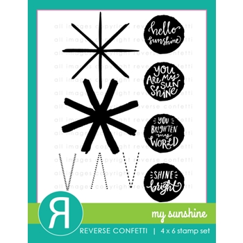 Reverse Confetti MY SUNSHINE Clear Stamp Set
