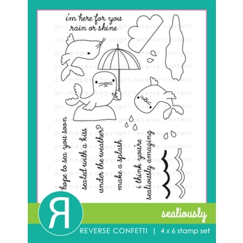 Reverse Confetti SEALIOUSLY Clear Stamp Set