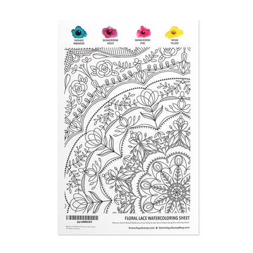 Simon Says Stamp Daniel Smith FLORAL LACE Watercolor pps000103 Best Days Preview Image