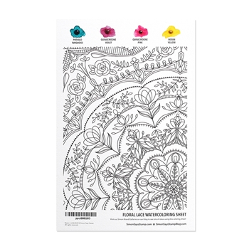 Simon Says Stamp Daniel Smith FLORAL LACE Watercolor pps000103 Best Days