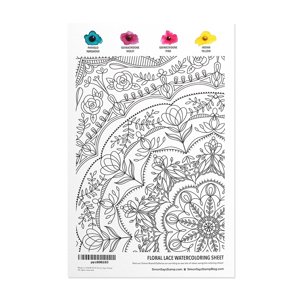 Simon Says Stamp Daniel Smith FLORAL LACE Watercolor pps000103 Best Days zoom image