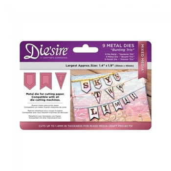Crafter's Companion BUNTING TRIO Die'sire Mixed Media Die ds-mm-bunt