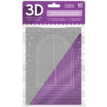Crafter's Companion COUNTRY COTTAGE 3D Embossing Folder ef5-3d-ccot