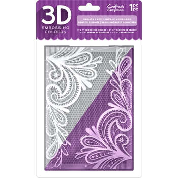 Crafter's Companion ORNATE LACE 3D Embossing Folder ef5-3d-olace