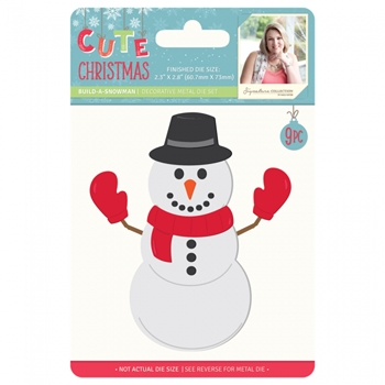 Crafter's Companion BUILD-A-SNOWMAN Metal Die Cute Christmas s-cc-md-bas