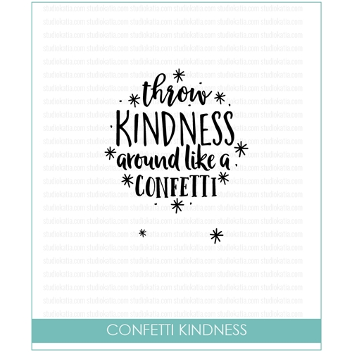 Studio Katia Confetti Kindness Clear Stamp