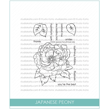 Studio Katia JAPANESE PEONY Clear Stamps stks040