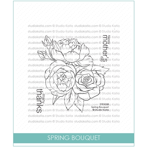 Studio Katia SPRING BOUQUET Clear Stamps stks038 Preview Image