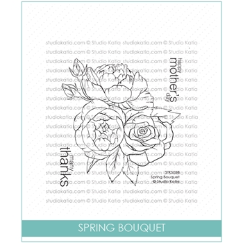 Studio Katia SPRING BOUQUET Clear Stamps stks038