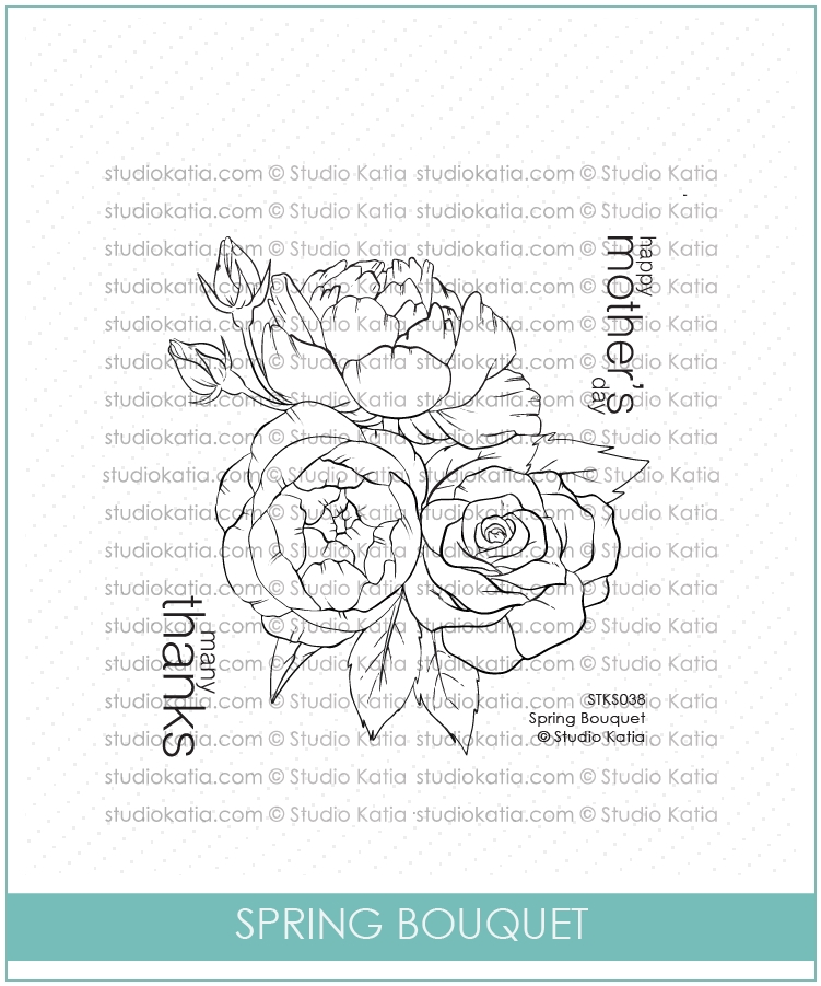 Studio Katia SPRING BOUQUET Clear Stamps stks038 zoom image