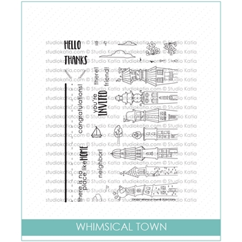 Studio Katia WHIMSICAL TOWN Clear Stamps stks027