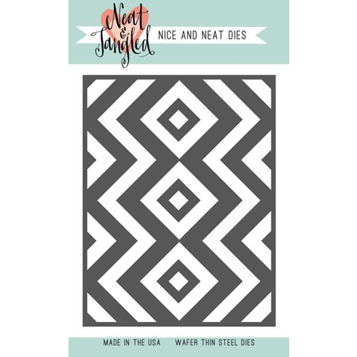 Neat and Tangled SQUARE AND CHEVRONS COVER PLATE DIE NAT363 Preview Image
