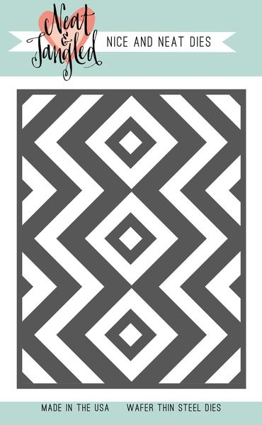 Neat and Tangled SQUARE AND CHEVRONS COVER PLATE DIE NAT363 zoom image