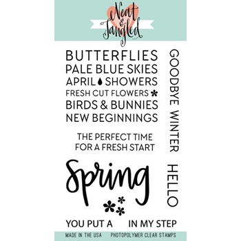 Neat and Tangled HELLO SPRING Clear Stamp Set NAT358