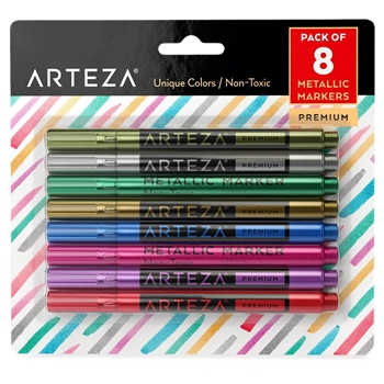 Arteza METALLIC MARKERS Wine Glass artz8130