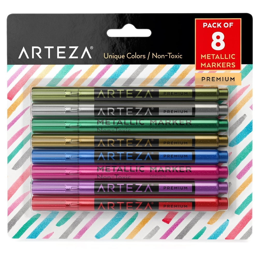Arteza METALLIC MARKERS Wine Glass artz8130 zoom image