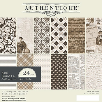 Authentique 6 x 6 ACCOLADE Paper Pad acd014