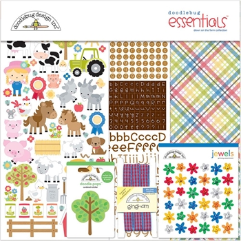 Doodlebug DOWN ON THE FARM COLLECTION Essentials Kit 6004