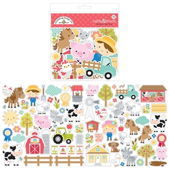 Doodlebug DOWN ON THE FARM Odds and Ends Die Cut Shapes 5905