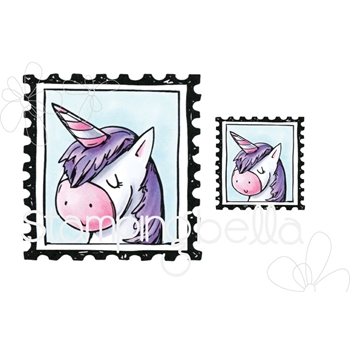 Stamping Bella Cling Stamp PUT A STAMP ON IT BERNIE Rubber UM eb655