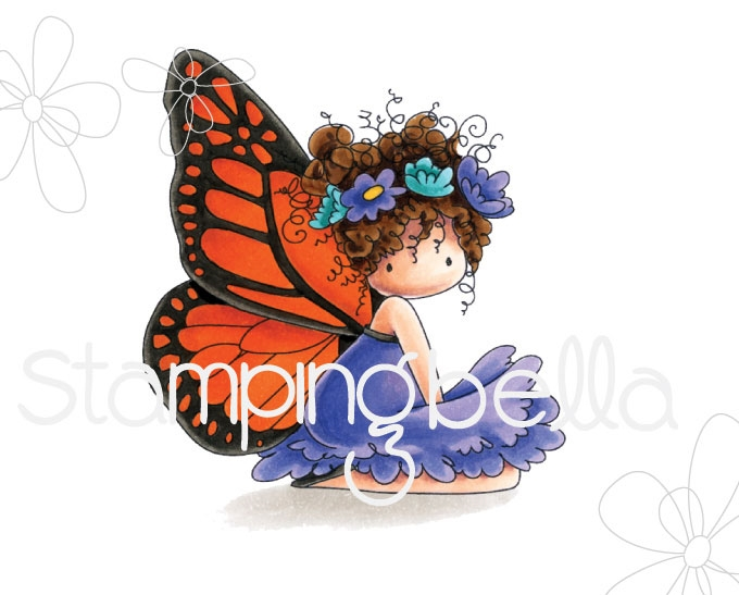 Stamping Bella Cling Stamp TINIE TOWNIE BESS THE BUTTERFLY Rubber UM eb665 zoom image