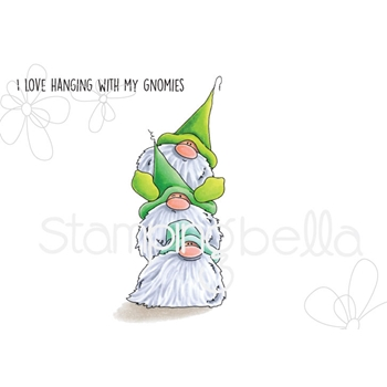 Stamping Bella Cling Stamp THE GNOMES GNOME PILE Rubber UM eb659
