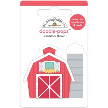 Doodlebug RED BARN Doodle Pops 3D Sticker Down on the Farm 5854