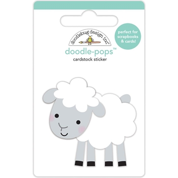 Doodlebug LITTLE LAMB Doodle Pops 3D Sticker Down on the Farm 5862