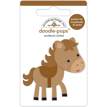 Doodlebug GIDDY UP Doodle Pops 3D Sticker Down on the Farm 5860