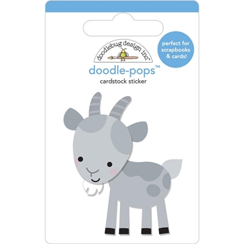 Doodlebug BILLY GOAT Doodle Pops 3D Sticker Down on the Farm 5857