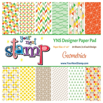 Your Next Stamp GEOMETRICS 6X6 Paper Pack ynspp020