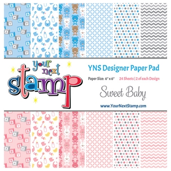 Your Next Stamp SWEET BABY 6X6 Paper Pack ynspp021