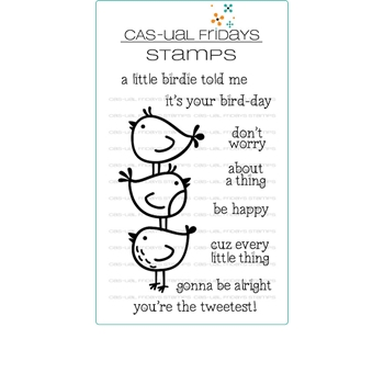 CAS-ual Fridays LITTLE BIRDIES Clear Stamps CFS1808