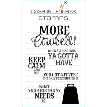 CAS-ual Fridays MORE COWBELL Clear Stamps CFS1809