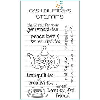 CAS-ual Fridays SERENDIPI-TEA Clear Stamps CFS1810